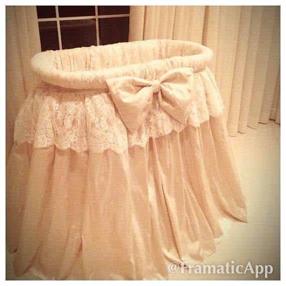 HugBug Bedding Tiered Lace Bassinet by HugBugBedding on Etsy, $795.00