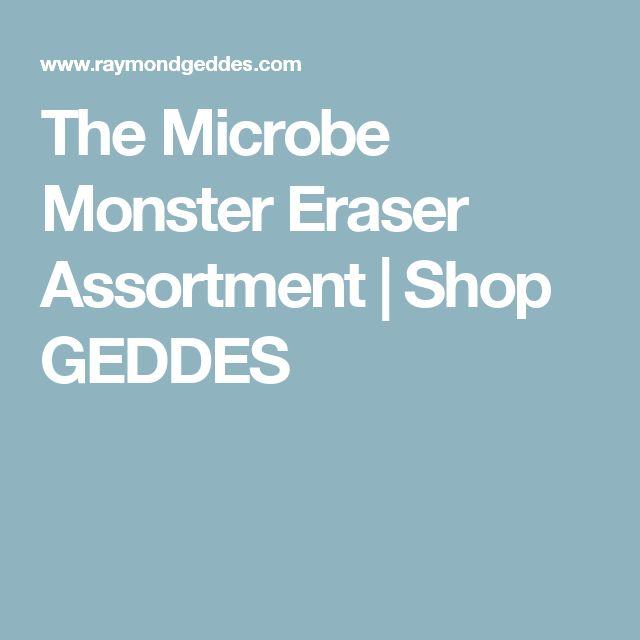 The Microbe Monster Eraser Assortment   Shop GEDDES