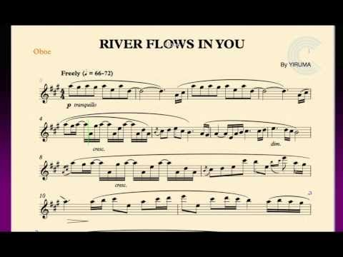 SHEET RIVER FLOWS IN MUSIC YOU