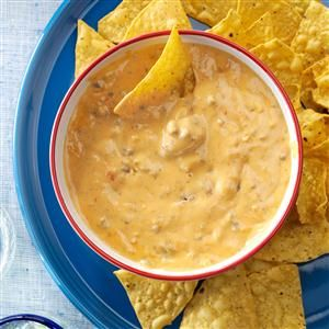 """Nacho Salsa Dip Recipe -""""This zesty dip is great for any get-together and allows me to spend more time with my guests,"""" says Sally Hull of Homestead, Florida. """"I always have requests to bring it when my husband and I attend parties."""""""