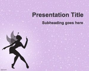 Free Fairy PowerPoint Template is a free PowerPoint background and slide design with a nice Fairy illustration and purple background color