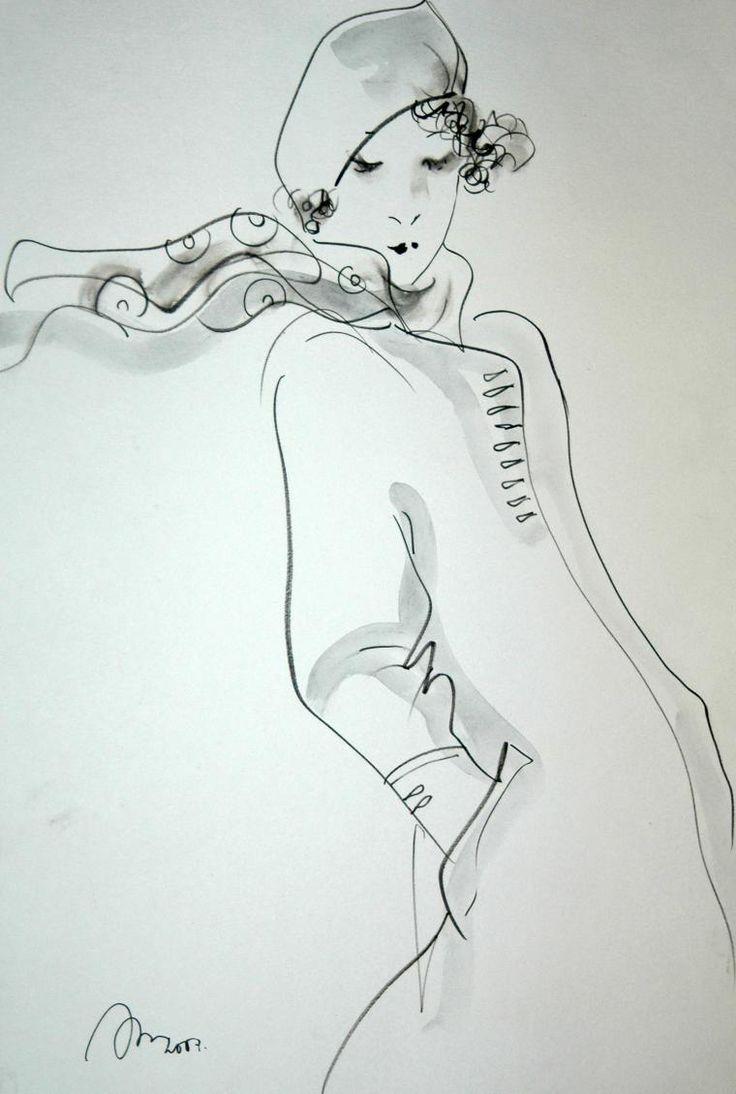 Эфемерность и метафизика женских образов в рисунках Рустема Хамдамова - Ярмарка Мастеров - ручная работа, handmade