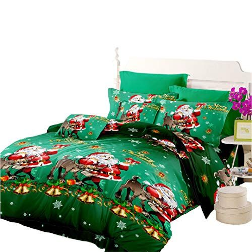 Quilt Cover Twin Size Cartoon Christmas Decoration Duvet Cover
