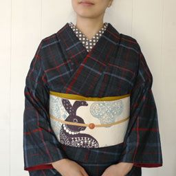 Tsumugi Kimono&Rabbit Obi