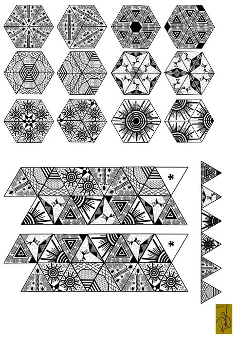 30 best Origami images on Pinterest Papercraft, Geometry and - hexaflexagon template