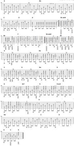Every Breath You Take - fingerstyle guitar tablature 2