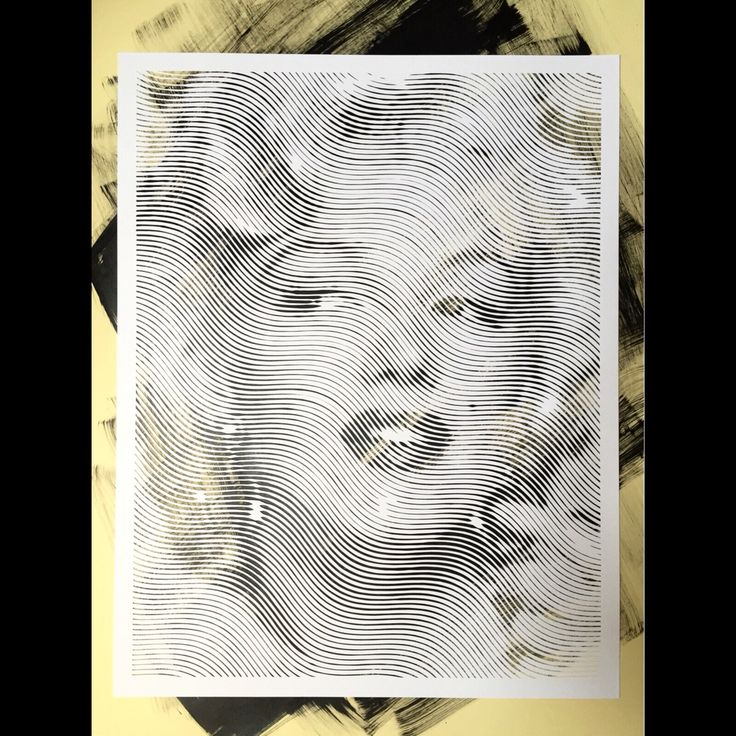 Hand carved paper cutouts  #marilynmonroe #paperart #papercut #monochrome #cutpaper #art #striped #blackandwhite