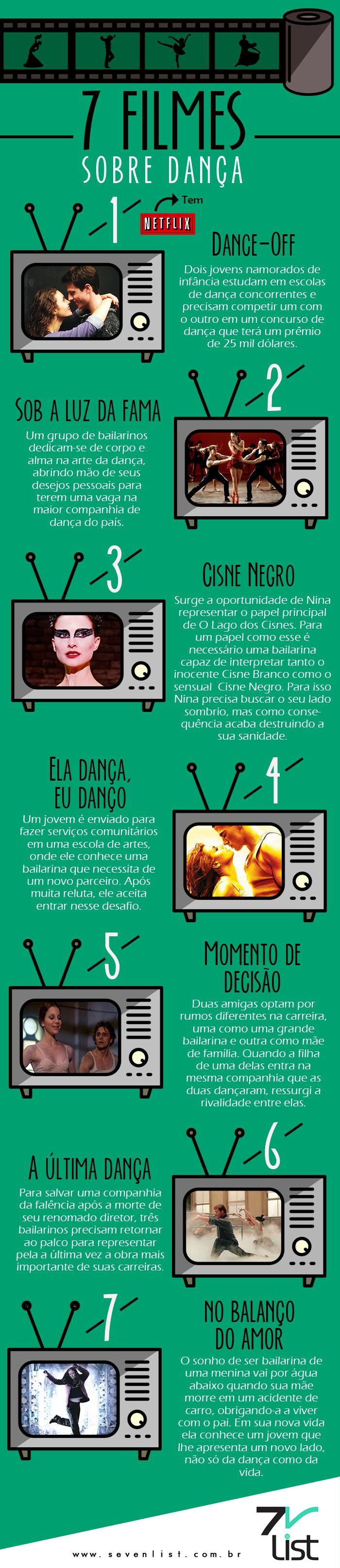 Dança, Ballet, Dance, Filmes, Bailarina, infrográfico, design.  www.sevenlist.com.br
