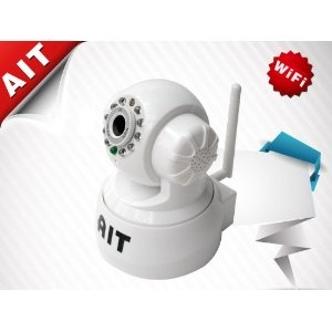 AIT Wireless/Wired Pan:270°:120° Dual Audio Alarm Ip camera Surveillance and Security Home Use Camera System with FREE DDNS (Electronics)