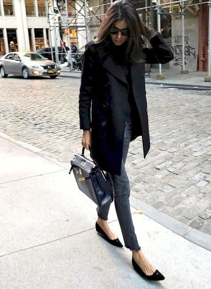 This Street Style Star Wears Pointed-Toe Shoes With Every Outfit via @WhoWhatWearUK
