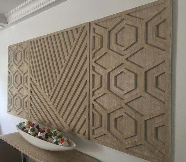 Graphic Wood Wall Art Whitewashed Hexagon En 2020 Art Murale En Bois Tableau Maison Decoration