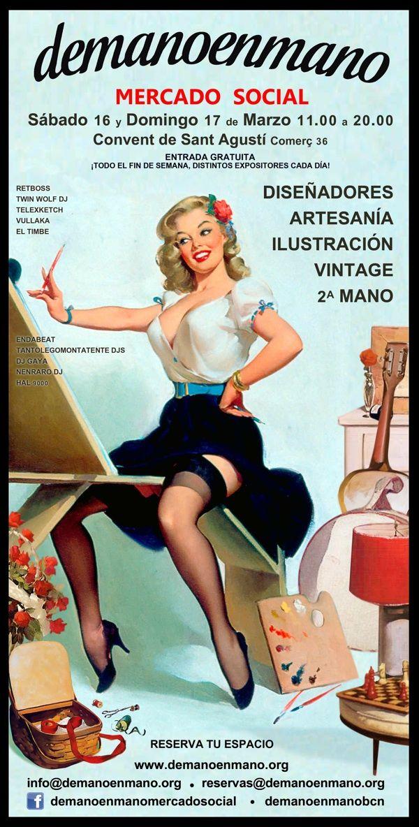 Vintage, 2a mano y artesanía este fin de semana en el mercado social demanoenmano