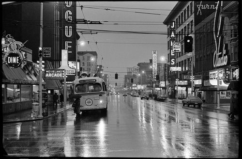 Granville Street in Vancouver in the 1970s. Photo from Vancouver Public Library on Flickr