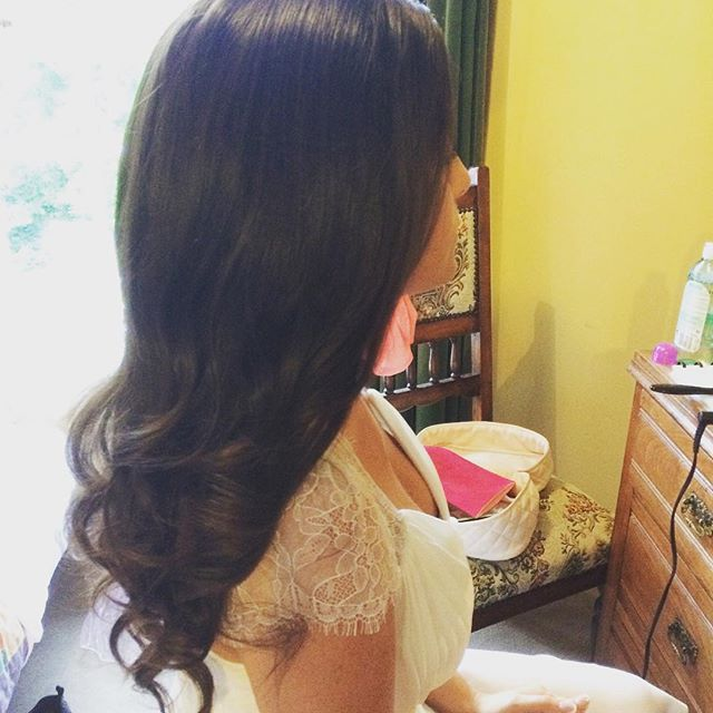 long waves, curls bridal hair  Hair by Aisling Hamill