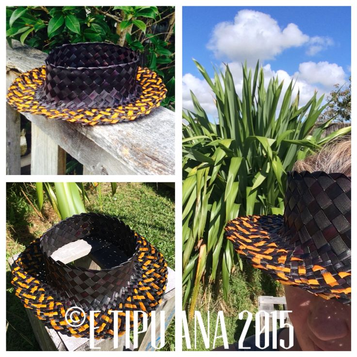 E Tipu Ana Potae (hat) Hand woven by julz and em @ E Tipu Ana out of New Zealand harakeke (flax)