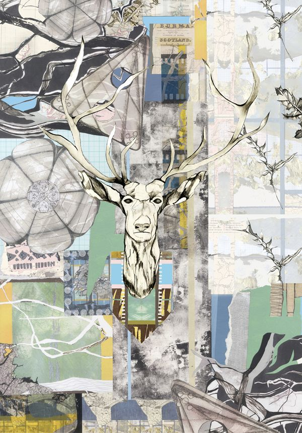 Collage, mixed media