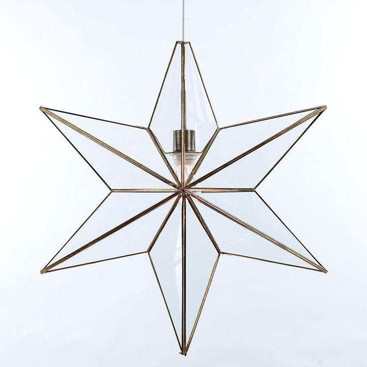 Rafael Glasstjerne Stor Gull | Designbelysning.no