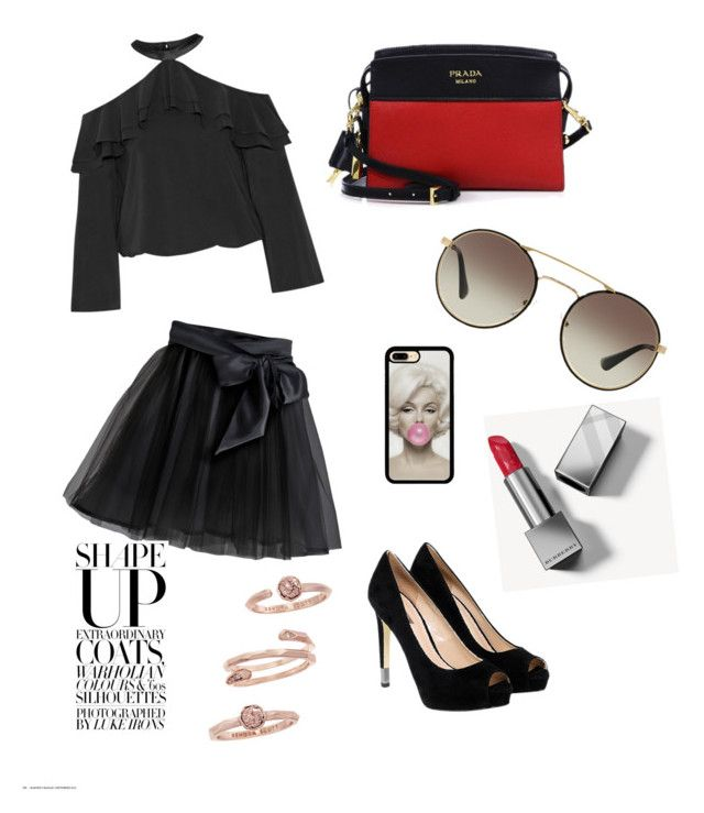 """just tell a friend"" by indrianissolihah ❤ liked on Polyvore featuring Alice + Olivia, Little Wardrobe London, GUESS, Prada, Burberry and Kendra Scott"