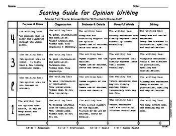 persuasive essay + assessment rubric