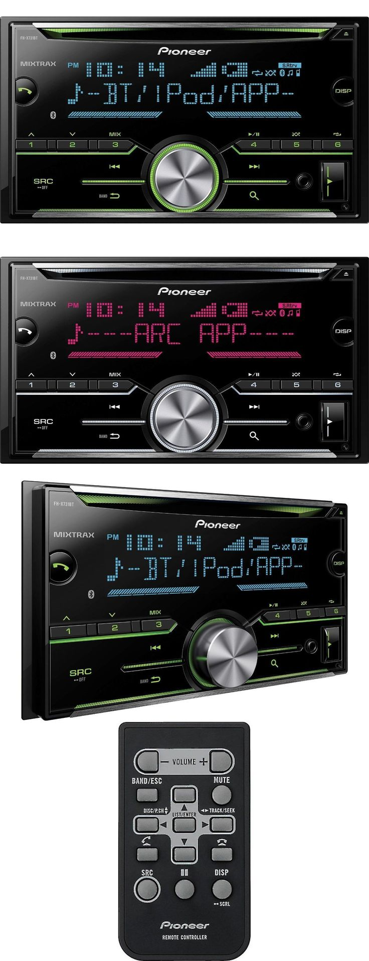 Car Audio In-Dash Units: Pioneer Fh-X731bt Double 2 Din Indash Cd Player Bluetooth Mixtrax Pandora New -> BUY IT NOW ONLY: $108 on eBay!