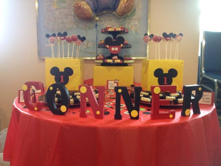Mickey Mouse dessert table TheLastBiteNY
