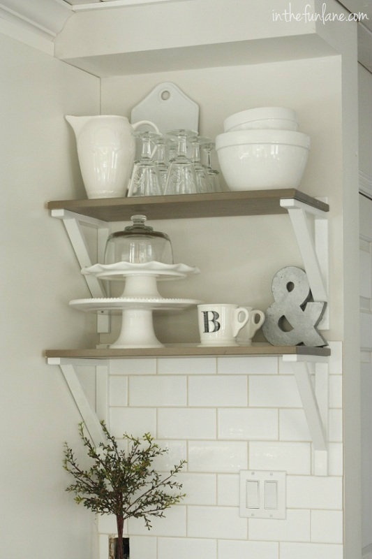 17 best images about kitchen shelves and faucets on pinterest open shelving grey countertops. Black Bedroom Furniture Sets. Home Design Ideas