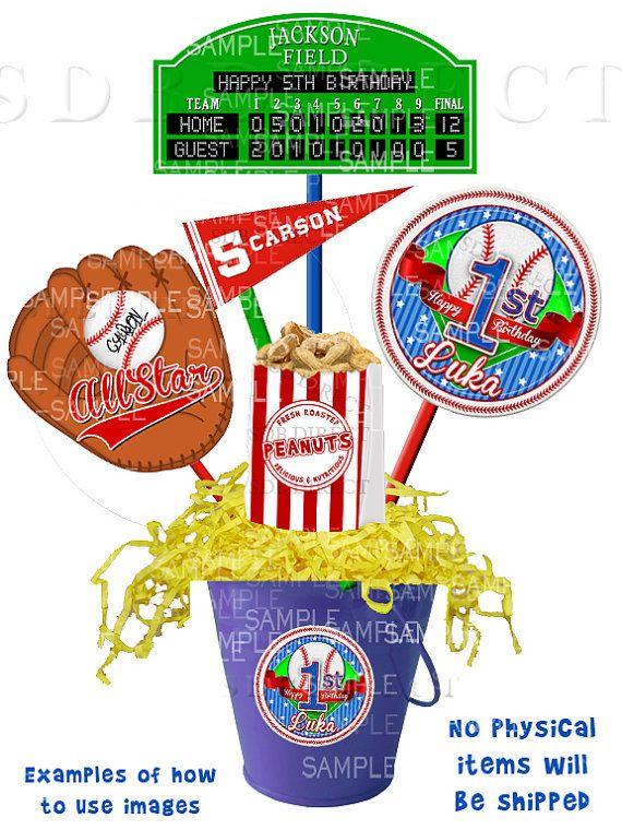 Baseball Party Centerpiece, Baseball Theme Party, Baseball Birthday Printables - YOU PRINT