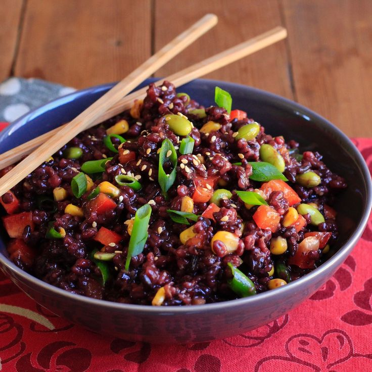 Sesame Ginger Wild Rice and Barley Salad. Perfect as a side dish or as a quick impromptu lunch. It's tender, chewy, crunchy, nutty, delicious and filling! And the Asian inspired dressing? Divine!!