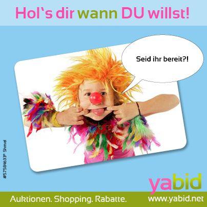 #Helau ihr #Narren! Mit den unschlagbaren #Deals von #Yabid kommt auch der letzte Karnevalsmuffel in #Partystimmung! Hol's dir wann DU willst! www.yabid.net