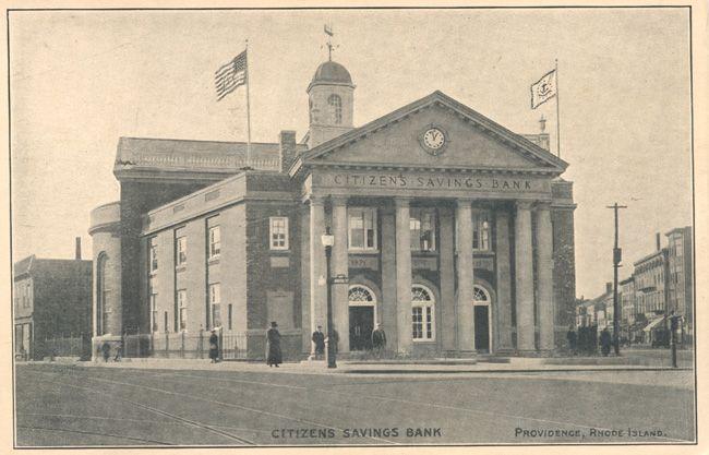 Citizens Savings Bank, Providence, RI, ca. 1910