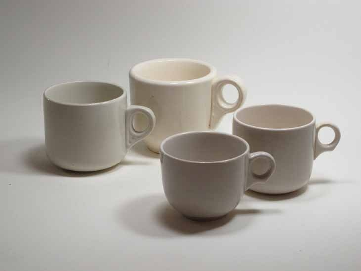 Crown Lynn, 'railway mugs', Auckland New Zealand. Collection of Auckland Museum