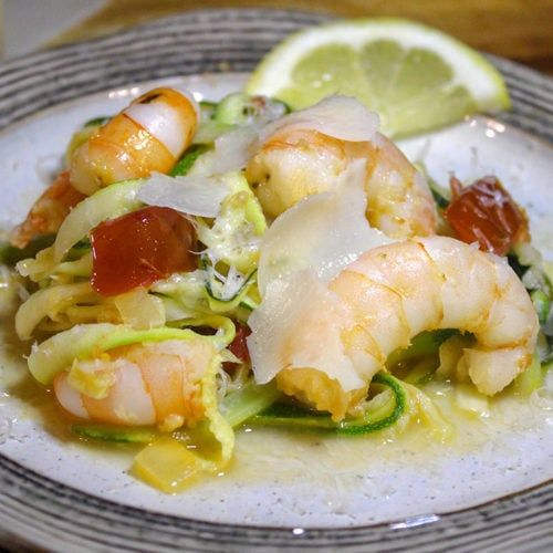 Simply the BEST Shrimp Scampi Zoodles
