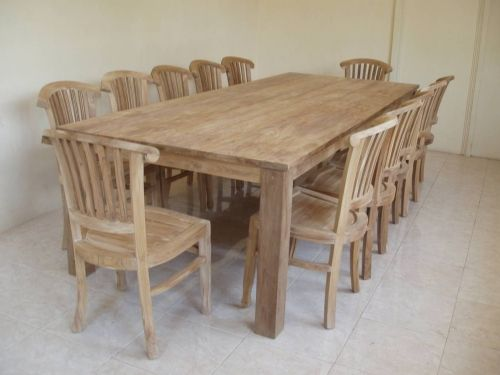 Rustic Recycled Teak Bogor Large Dining Table