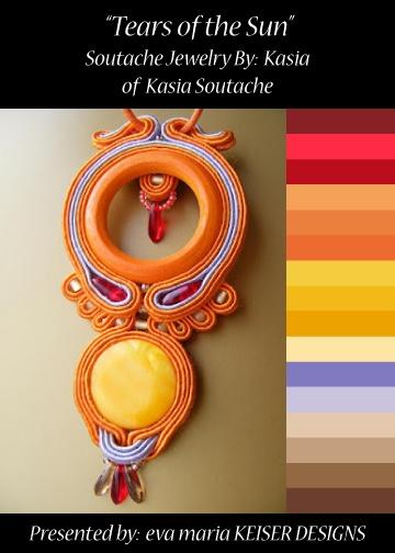 Colorway: Soutache Jewelry by: Kasia BLOG: http://kasiakolczyki.blogspot.com/