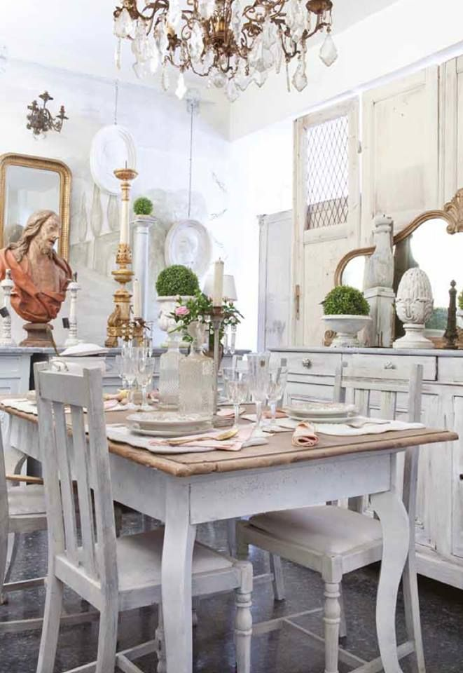 1000 ideas about shabby chic dining on pinterest dining - Cortinas para casa de campo ...