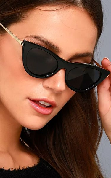 d436946b635 Le Specs Enchantress Black Cat-Eye Sunglasses