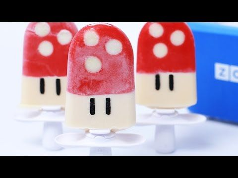SUPER MARIO MUSHROOM POPSICLES - NERDY NUMMIES - YouTube