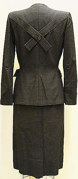 Suit, Gilbert Adrian (1944). Wool, rayon.