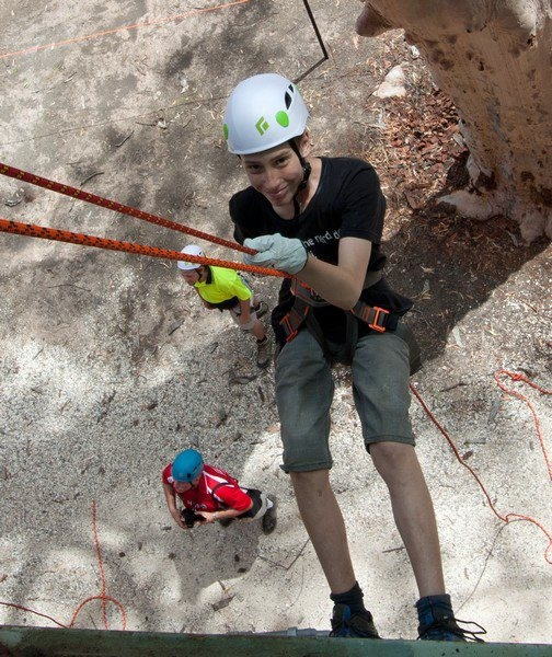 Abseiling at Climb It AJ2013