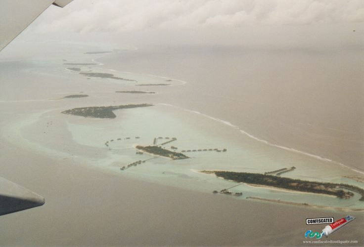 "Over the atolls of the Maldives.   ""The Truth about Flying"": http://www.confiscatedtoothpaste.com/the-truth-about-flying/"