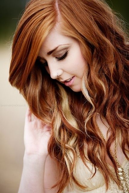 Maybe my next color is strawberry red? I'm loving this color, wouldn't put the harsh blonde highlights in it though.