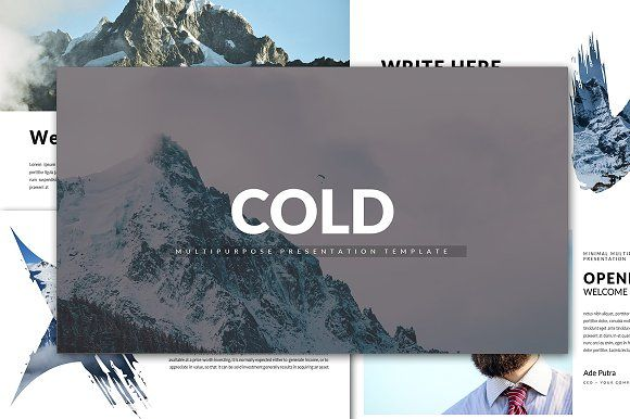 Cold Minimal Keynote Template by Infinity_Vector on @creativemarket