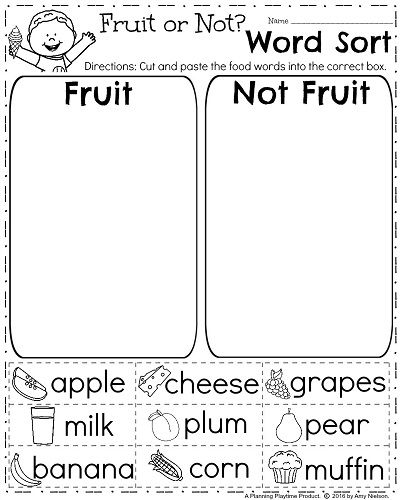 Worksheets First Grade Free Worksheets 17 best ideas about first grade worksheets on pinterest free spring worksheet for sorting words into categories fruit or not