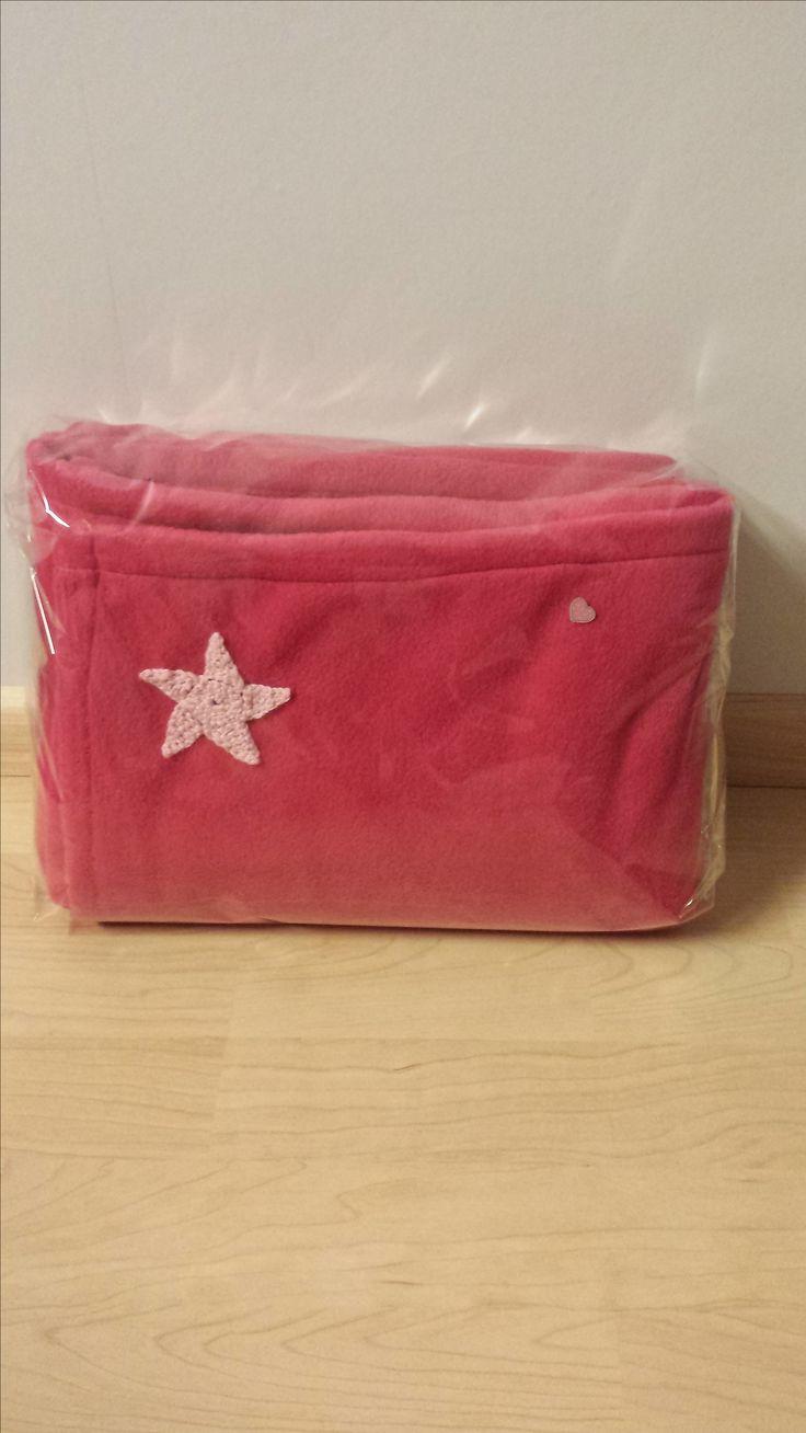 roze fleece plaid met ster