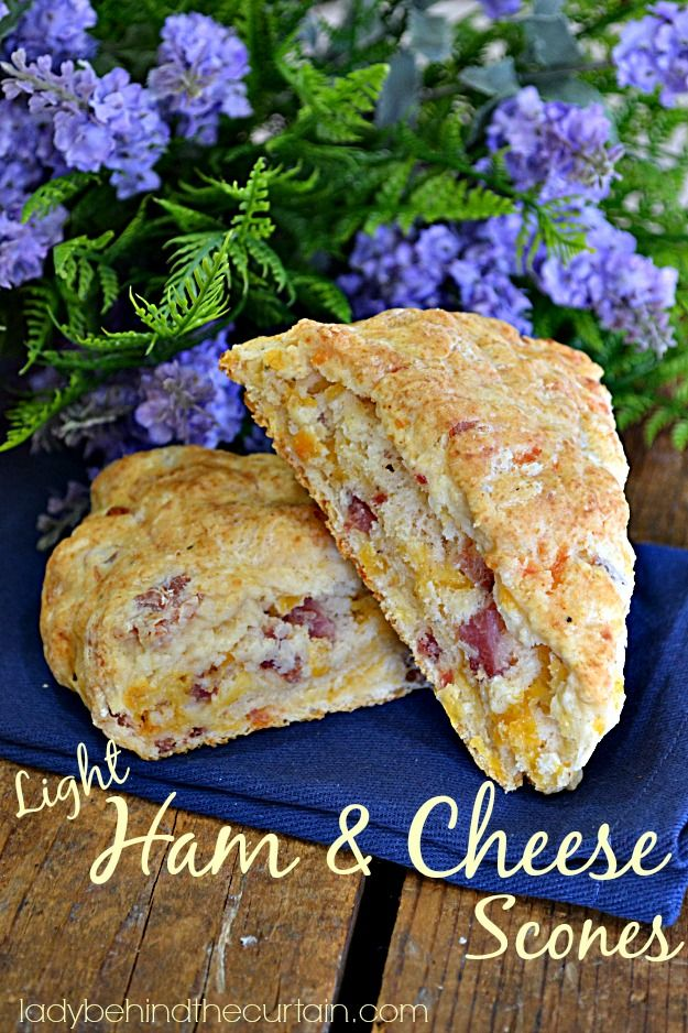 Light Ham and Cheese Scones ~ Lady Behind The Curtain