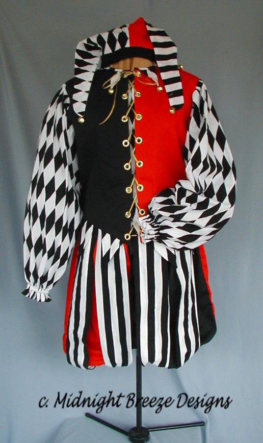 harlequin jester medieval photos | MADE TO ORDER Renaissance Foole Jester Costume - Men or Ladies