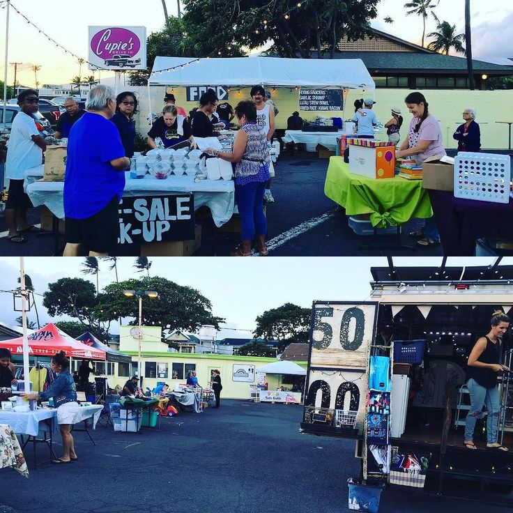 Night Market at Cupie's is just about to start!  Come and check out all that's here. The food smells amazing!  @cupiesdrivein  #NightMarketAtCupies #MauiEvents #CupiesDriveIn #Kahului #Maui