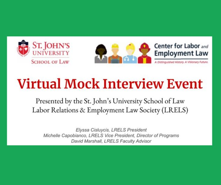 Blg Associate Sam Wiles And Blg Law Clerk Michelle Capobianco Participated In A Virtual Mock Interview Event Hosted By The S Law Student Employment Law Student