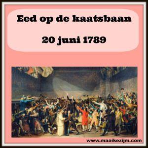 Eed op de kaatsbaan, de Nationale Vergadering besloot niet eerder uit elkaar te gaan tot er een grondwet was.  http://maaikezijm.com/2014/06/14/franse-revolutie-2/