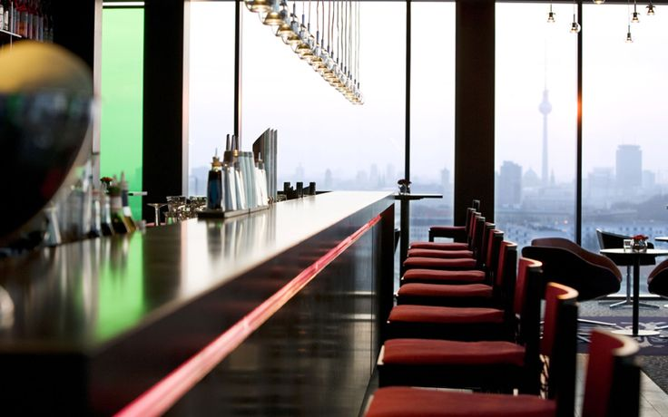 Enjoy the view from the sky.bar at the Vienna House Andel's Berlin  #Berlin #bar #cocktails #view #style #interiordesign #designhotel